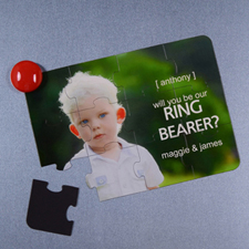 Personalized Magnetic Will You Be My Ring Bearer Invitation Puzzle