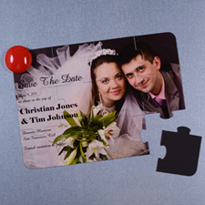 Personalized Magnetic Save The Date Invitation Puzzle