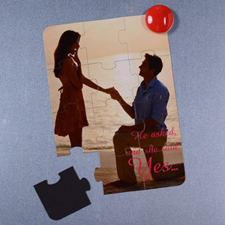Personalized Magnetic He Asked And She Said Yes Invitation Puzzle