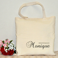 Bridesmaid Personalized Marriage Tote Bag