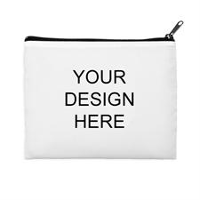 Print Your Own 2 Side Same Image Black Zipper Bag (8 X 10 Inch)