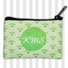 Lime Fan Personalized Coin Purse
