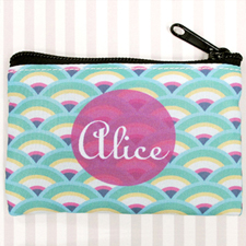 Peacock Fan Personalized Coin Purse