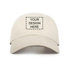 Custom Full Color Print Baseball Cap, Light Khaki