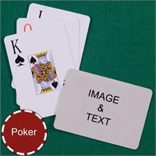 Personalized Poker Jumbo Index Landscape Playing Cards