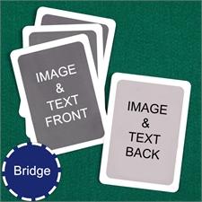 Bridge Size Playing Cards Custom Cards (Blank Cards) White Border