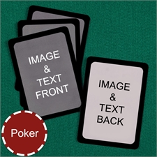 Poker Custom Cards (Blank Cards) Black Border Playing Cards