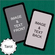 Tarot Size Custom Cards (Blank Cards) Black Border