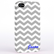 Personalized Grey Chevron Monogrammedmed Hard Case Cover