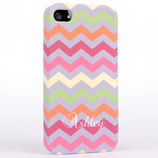 Personalized Colorful Colors Chevron iPhone 4 Hard Case Cover