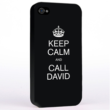 Personalized Black Keep Calm Hard Case Cover