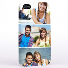 Personalized Simply Three Collage iPhone 4 Hard Case Cover