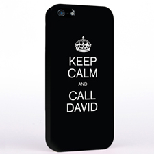 Personalized Black Keep Calm iPhone Case