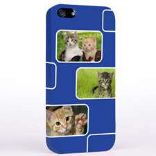 Personalized Navy 3 Collage iPhone 5 Case