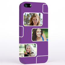 Personalized Purple 3 Collage iPhone 5 Case