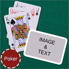 Poker Bridge Style White Border Landscape Playing Cards