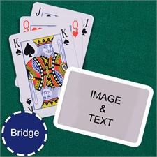 Bridge Size Playing Cards Bridge Style White Border Landscape