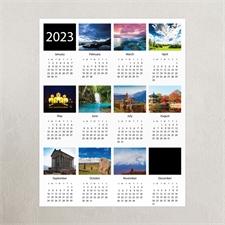 White Portrait Ten Collage 11X14 Personalized Poster Calendar