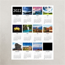 Large White Portrait Ten Collage 20X30 Poster Print Calendar 2020