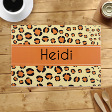 Personalized Leopard Print Placemats