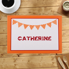 Personalized Orange Birthday Party Banner Placemats