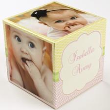 Birthday Girl Wood Photo Cube, 5 panels