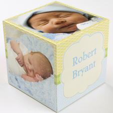 Personalized Birthday Boy Wood Photo Cube, 5 panels