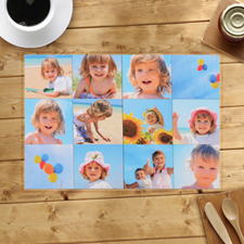 Personalized Twelve Photo Collage Placemats