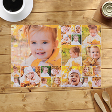 Personalized White Twenty Collage Placemats