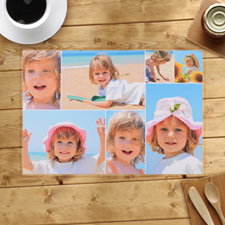 Personalized White Seven Collage Placemats