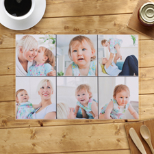 Personalized Six Photo Collage Placemats
