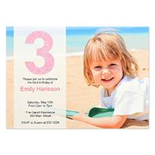 Personalized Having Fun Girl Invitation Card