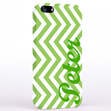 Personalized Lime Chevron iPhone Case