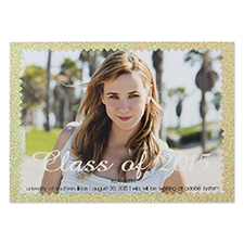 Finishing Highlights Personalized Photo Graduation Announcement Party Invitation Card