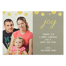 Personalized Gold Polka Dots Invitation Cards