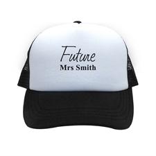 Future Mrs Personalized Trucker Hat, Black