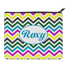 Print Your Own Yellow Colorful Chevron Bag (8 X 10 Inch)