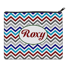 Print Your Own Grey Blue Red Chevron Bag (8 X 10 Inch)