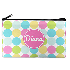Custom Design Your Own Pink Colorful Large Dots Makeup Bag (5 X 8 Inch)