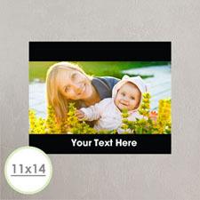 Photo Poster Print 11X14 Black Frame