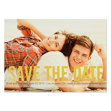 Personalized Gold Glitter Save The Day Save The Date Invitation Cards