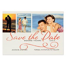 Personalized Wedding Day Save The Date Invitation Cards