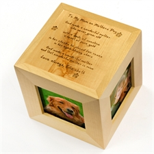 Engraved To My Mom Wood Photo Cube