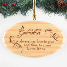 Blessing Of Love Personalized Wood Ornament