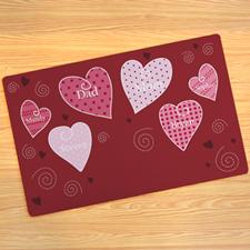 Create Your Own Hearts Door Mat