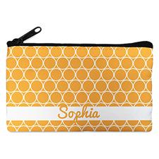 Orange Circle Personalized Cosmetic Bag