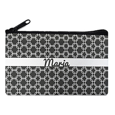 Grey Chain Personalized Cosmetic Bag
