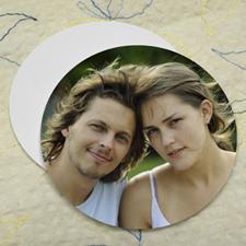 Wedding Photo, Round (Set Of 12) Personalized Coasters