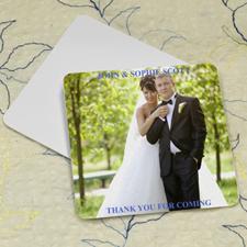 Wedding Photo, Square Personalized Coasters