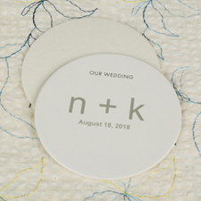 Custom Initial Round Personalized Coasters